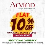 discount on Arvind e gift cards