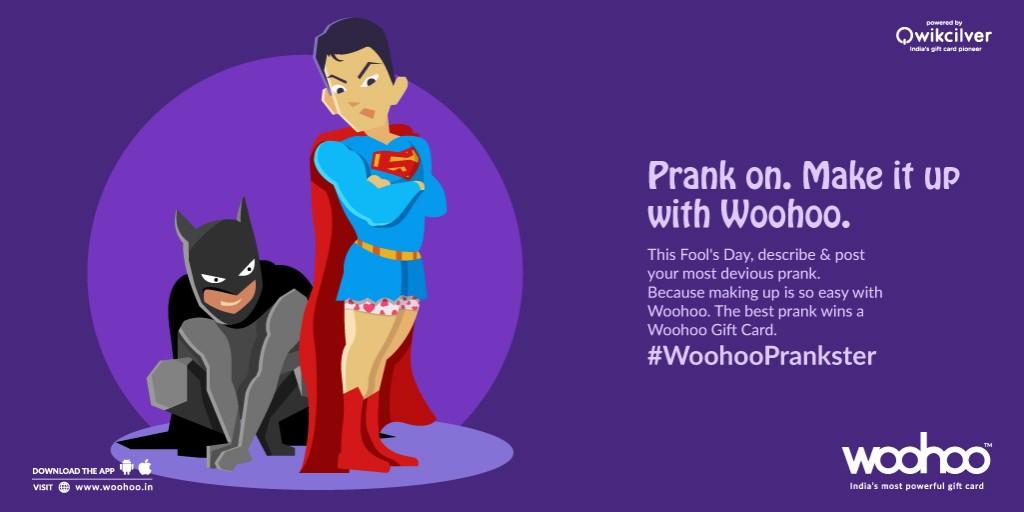 #WoohooPrankster, Woohoo, April Fool's Day