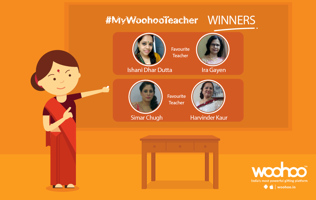 #MyWoohooTeacher, Teacher's Day, Woohoo.in