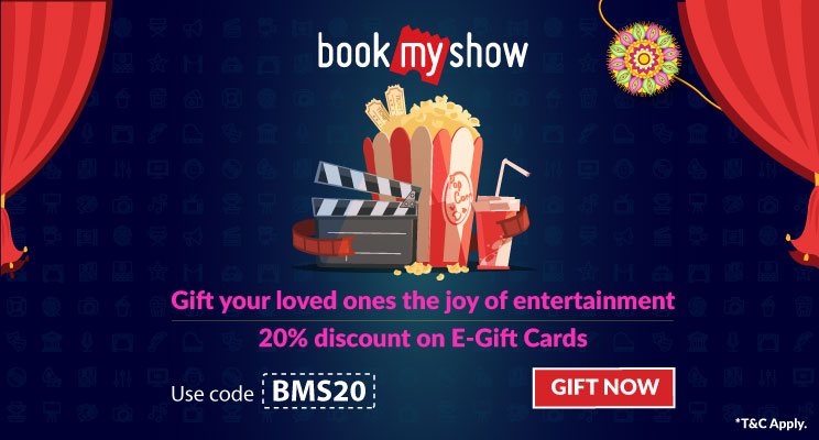 Discount on bookmyshow gift card