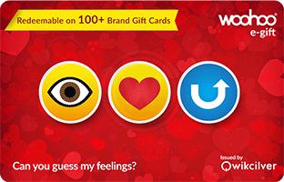 Woohoo Valentine gift card