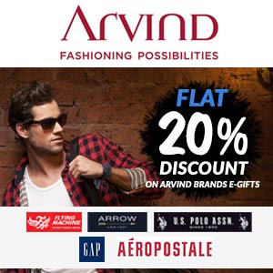 offers on arvind gift cards