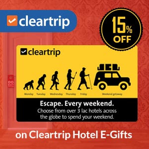 cleartrip hotel gift card offer
