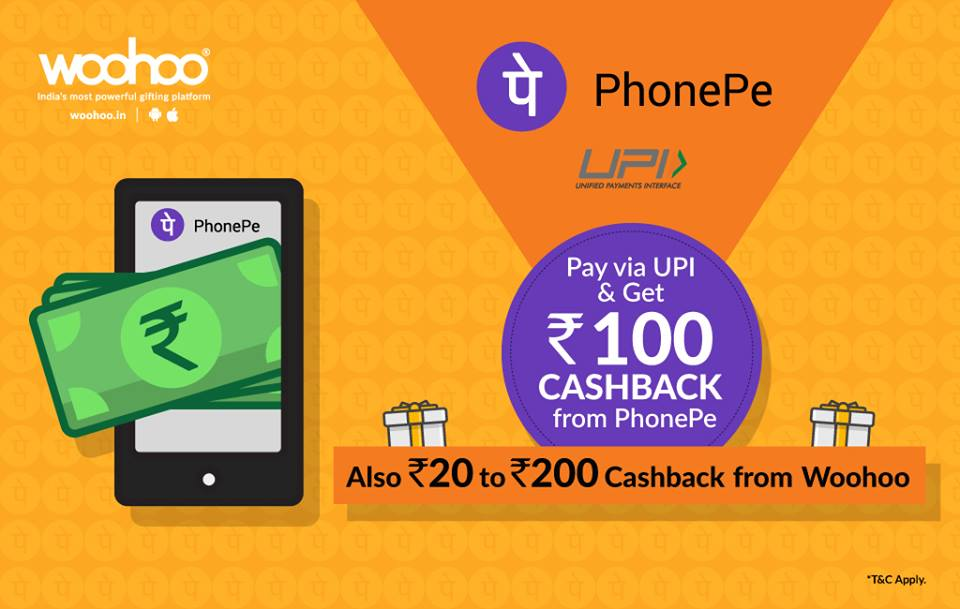 PhonePe offer for gift cards