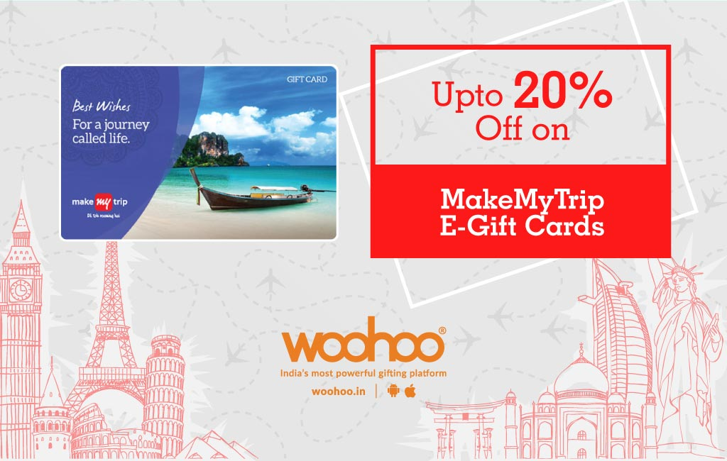Discount on MakeMyTrip Gift Cards