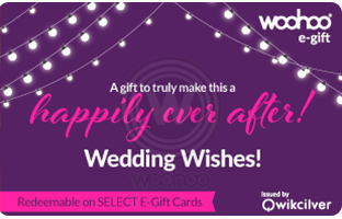 woohoo wedding gift card