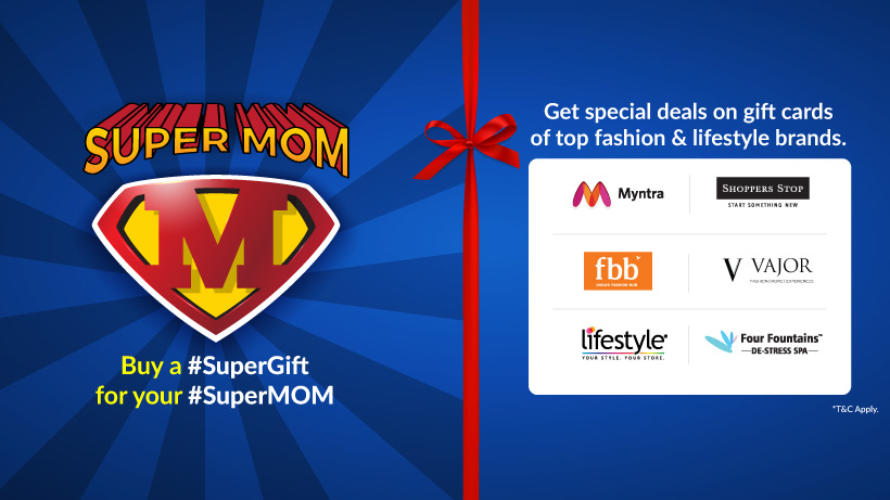 Mothers day offers on gift cards