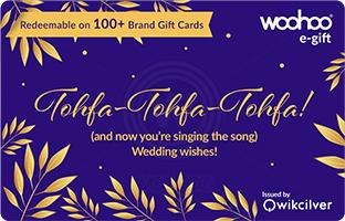 woohoo wedding gift card